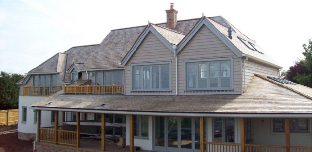 Pitched, tiled roof on a domestic property in Ferring, Worthing, West Sussex.