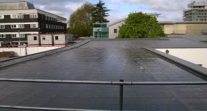 Kingsley Roofing completed an Elastoflex liquid waterproofing system on this hospital roof in Berkshire