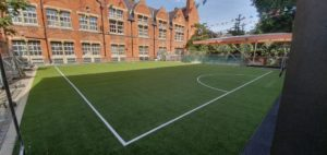 school astro pitch flat roof